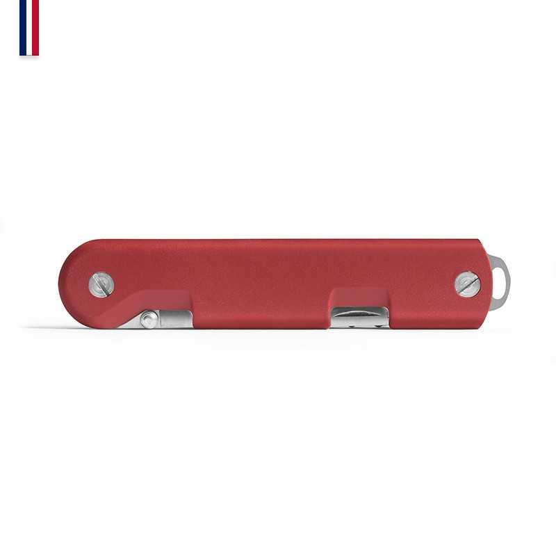 couteau pliant Baroudeur plié rouge